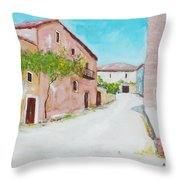 Old Houses Near The Old Church Throw Pillow