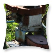 Old Junky Lawn Mower Throw Pillow