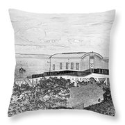 Old Lifeboat Station Tenby Throw Pillow