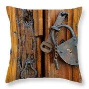 Old Lock, Mexico Throw Pillow