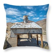 Old Mine On Old Toll Road In Death Valley Throw Pillow