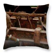 Old Farm Machine Throw Pillow