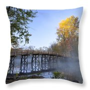 Old North Bridge Concord Throw Pillow