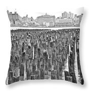Old Piers Throw Pillow