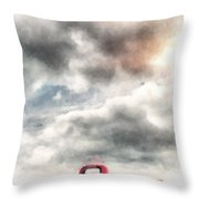 Old Red Ford Pickup Throw Pillow