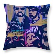Old School Hip Hop 3 Throw Pillow