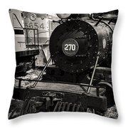Old Steam Lock  Throw Pillow