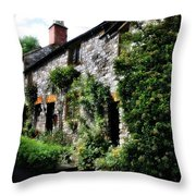Old Terrace Houses - Peak District - England Throw Pillow