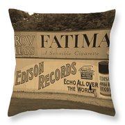 Old Time Baseball Field Throw Pillow