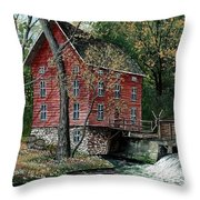 Old Time Mill Throw Pillow