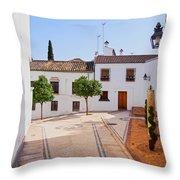 Old Town In Cordoba Throw Pillow
