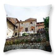 Old Towns Of Tuscany San Gimignano Italy Throw Pillow