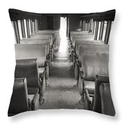 Old Train Seats Throw Pillow