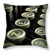 Old Typewrater Throw Pillow