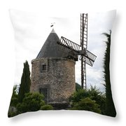Old Provencal Windmill Throw Pillow