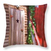 Old Wooden Door Throw Pillow