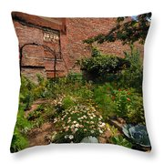 Olde Allegheny Community Gardens Throw Pillow