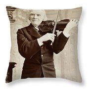 Ole Bornemann Bull (1810-1880) Throw Pillow