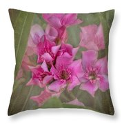 Oleander Cluster Throw Pillow