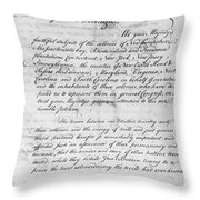 Olive Branch Petition, 1775 Throw Pillow
