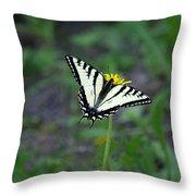 On A Flower Throw Pillow