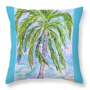 On The Beach Throw Pillow