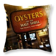 On The Half Shell Throw Pillow by Scott Pellegrin