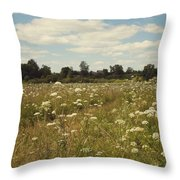 On The Summer Meadow. Russia Throw Pillow