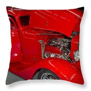 One Hot Rod Throw Pillow