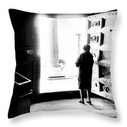 One Step From The Unknown Throw Pillow
