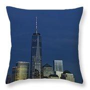 One World Trade Center At Twilight Throw Pillow