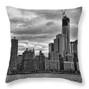 One World Trade Center Bw Throw Pillow
