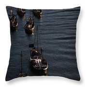 Oporto By River Throw Pillow