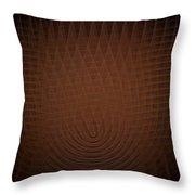 Orange Fractal Background Throw Pillow