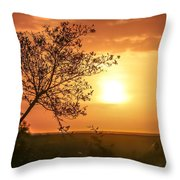 Orange Morning Throw Pillow