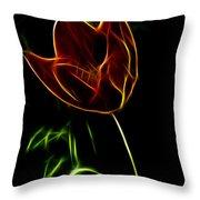 Orange Tulip Throw Pillow