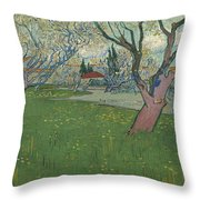 Orchards In Blossom Throw Pillow