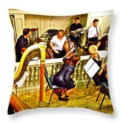Orchestra Tuning Up In The Pit In Hermitage Theatre In Saint Petersburg-russia  Throw Pillow