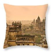 Orchha's Palace - India Throw Pillow
