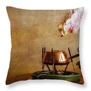 Orchid And Copper Fondue Throw Pillow