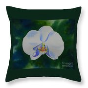 Orchid Dance 2 Throw Pillow