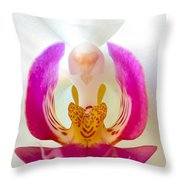 Orchid Detail 1 Throw Pillow