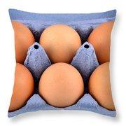 Organic Eggs Throw Pillow
