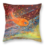 Original Painting Fragment 09  Throw Pillow