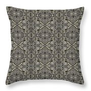 Ornament Engraved On Metal Surface Throw Pillow