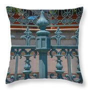 Ornate Fence Throw Pillow