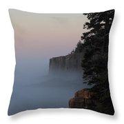 Otter Cliffs 2 Throw Pillow