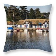 Oulton Broad Throw Pillow