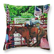 Out The Gate Throw Pillow