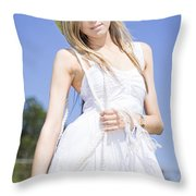 Outback Country Girl Throw Pillow